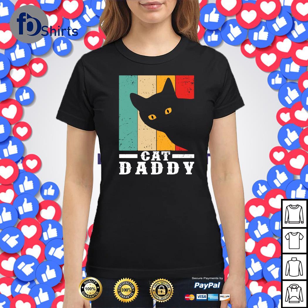 Black cat daddy vintage s ladies-tee