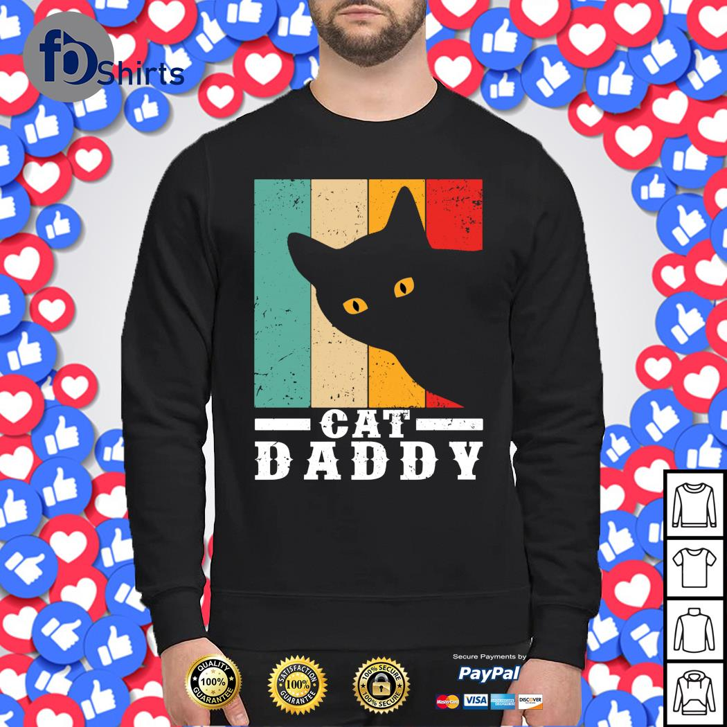 Black cat daddy vintage s sweater