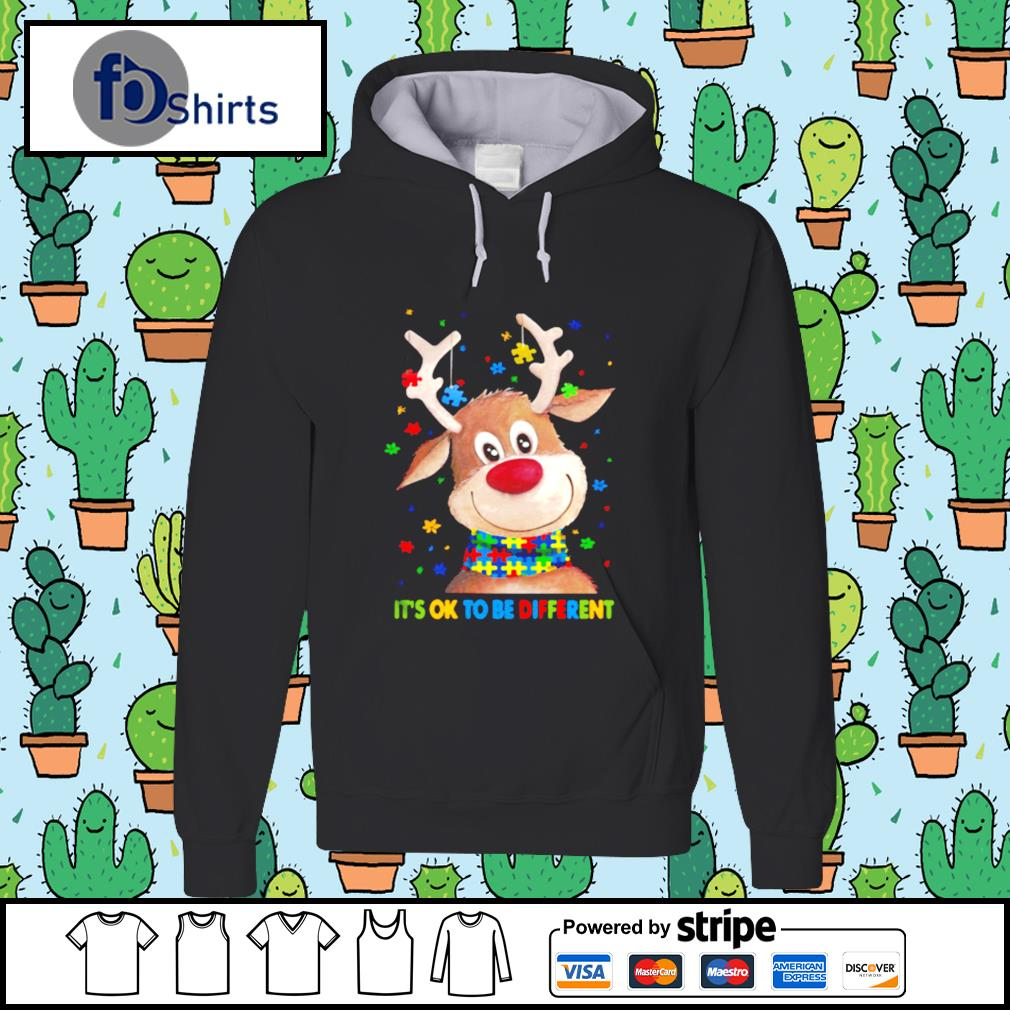 Autism Awareness Reindeer Its Ok To Be Different s hoodie