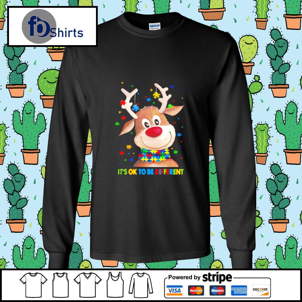 Autism Awareness Reindeer Its Ok To Be Different s longsleeve-tee