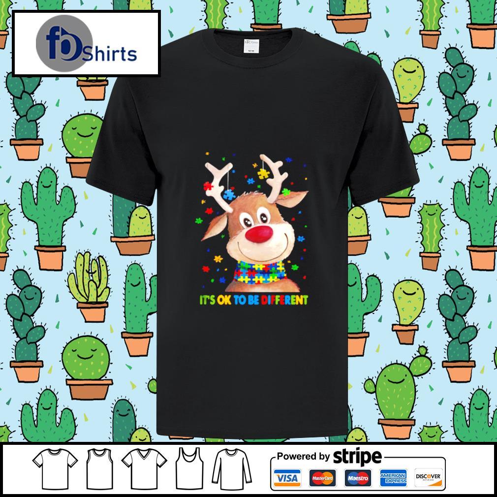 Autism Awareness Reindeer Its Ok To Be Different shirt