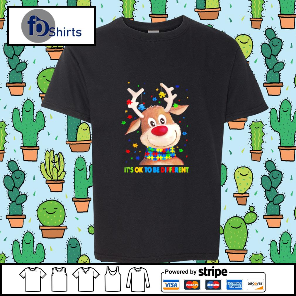 Autism Awareness Reindeer Its Ok To Be Different s youth-tee