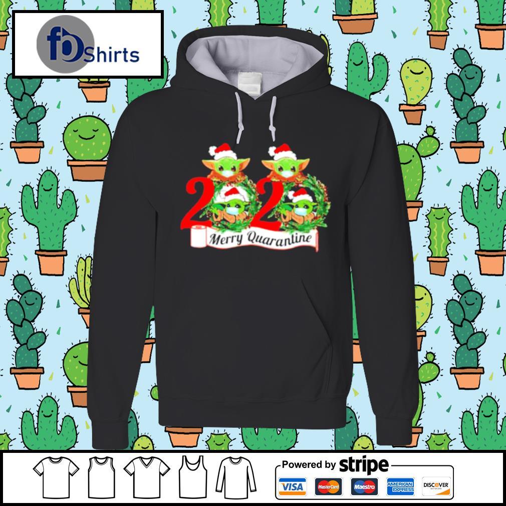 Baby Yoda Face Mask 2020 Merry Quarantine s hoodie