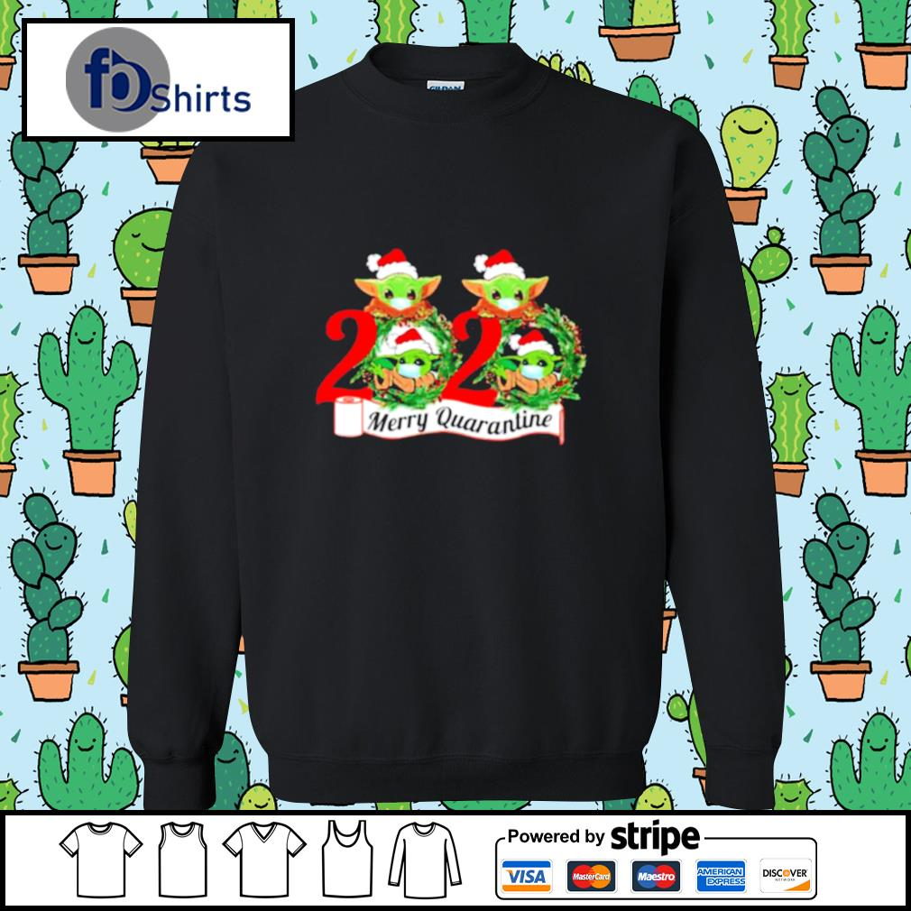 Baby Yoda Face Mask 2020 Merry Quarantine s sweater