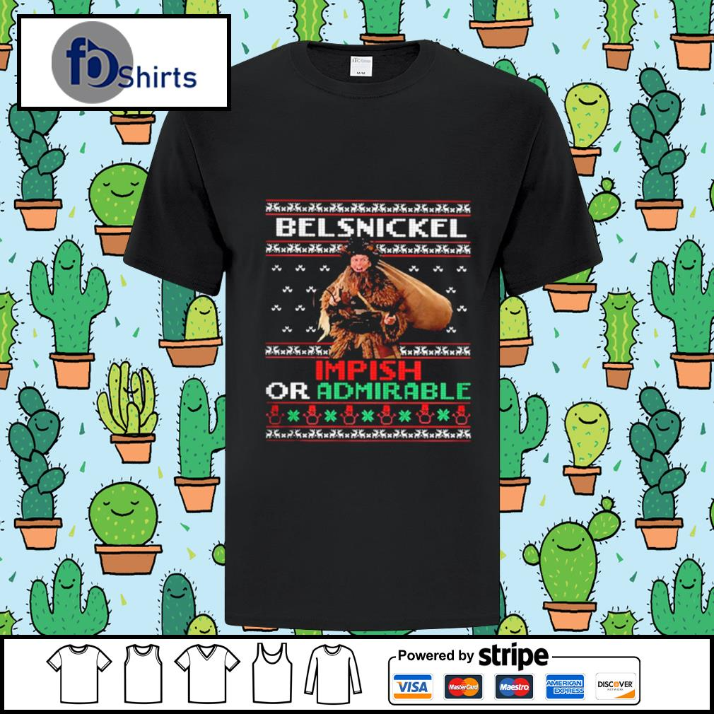 Belsnickel impish or admirable ugly christmas shirt