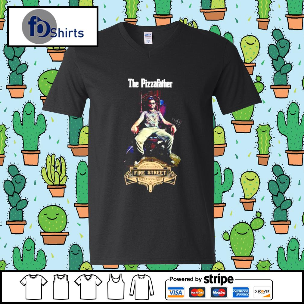Buffalos Pizzafather Fire Street Pizza s v-neck-t-shirt