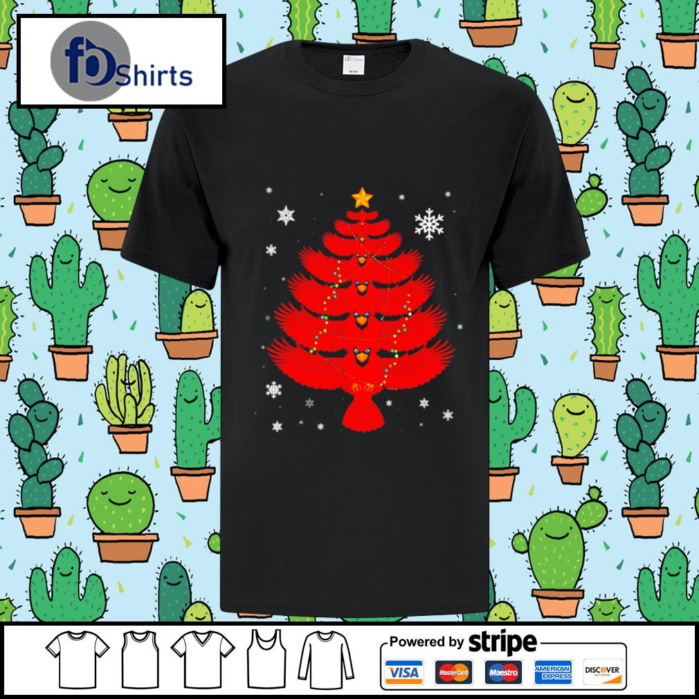 Cardinal Christmas Lights Tree shirt