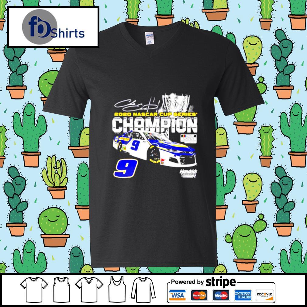 Chase Elliott Championship Nascar Winner 2020 Car s v-neck-t-shirt