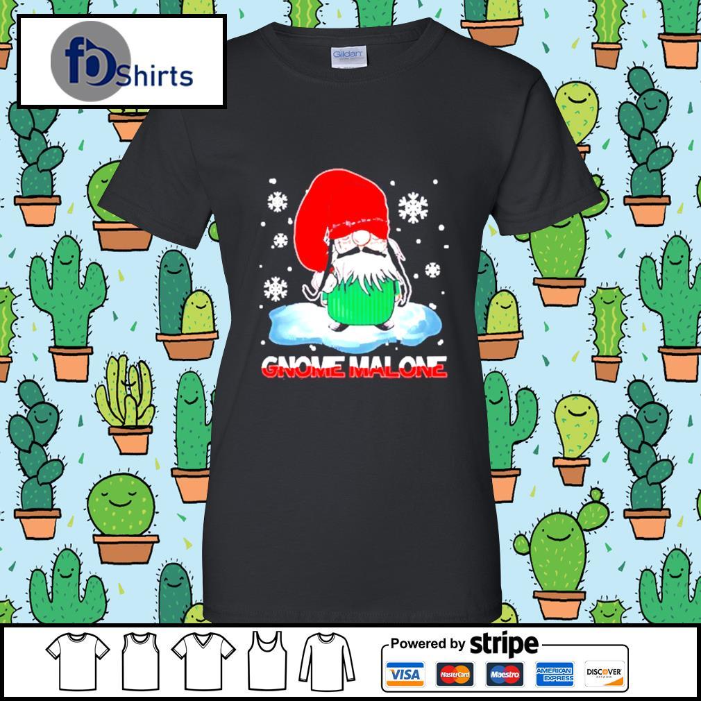 Gnome Malone christmas s ladies tee