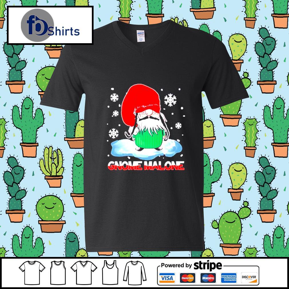 Gnome Malone christmas s v-neck-t-shirt