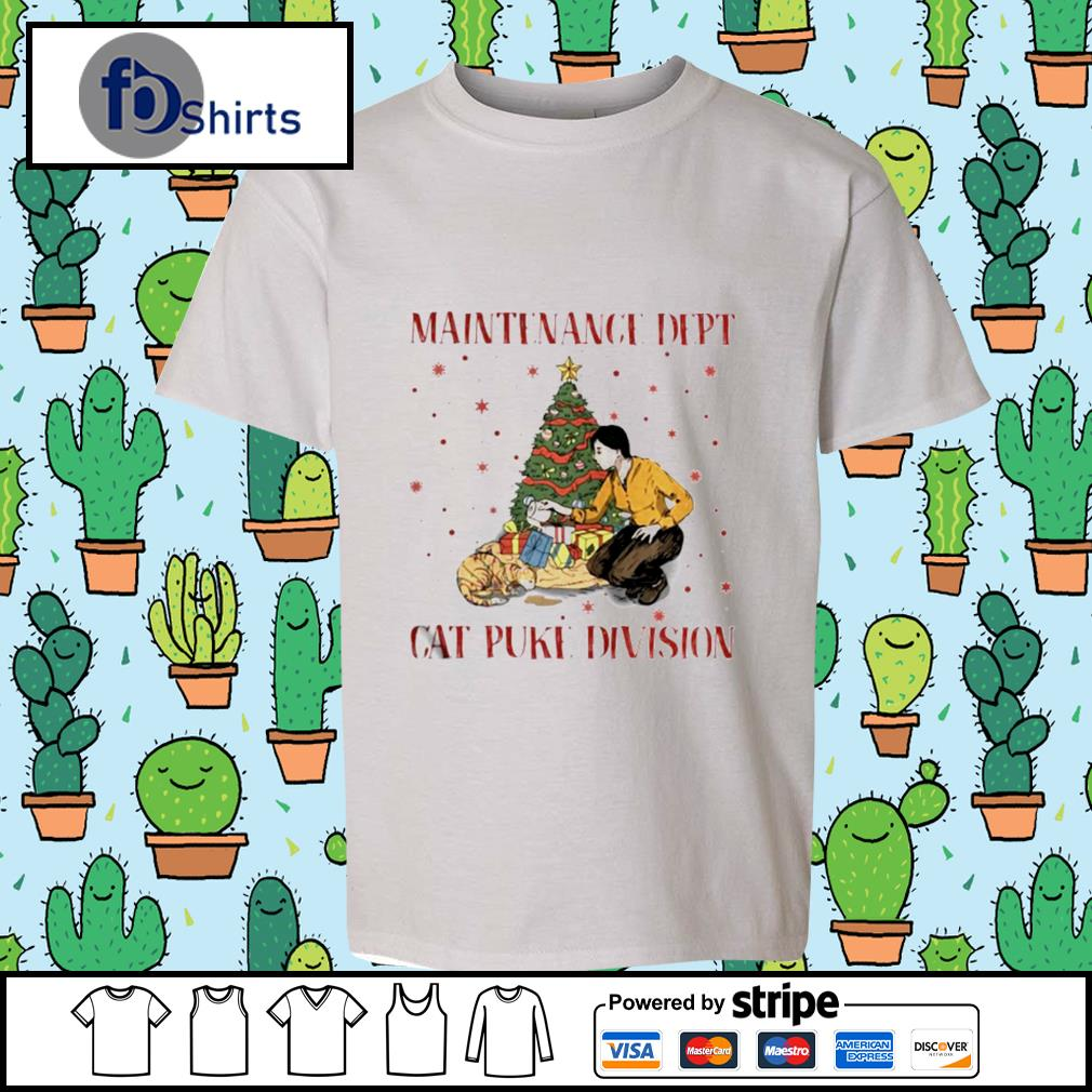Maintenance Dept Cat Puke Division Christmas s youth-tee