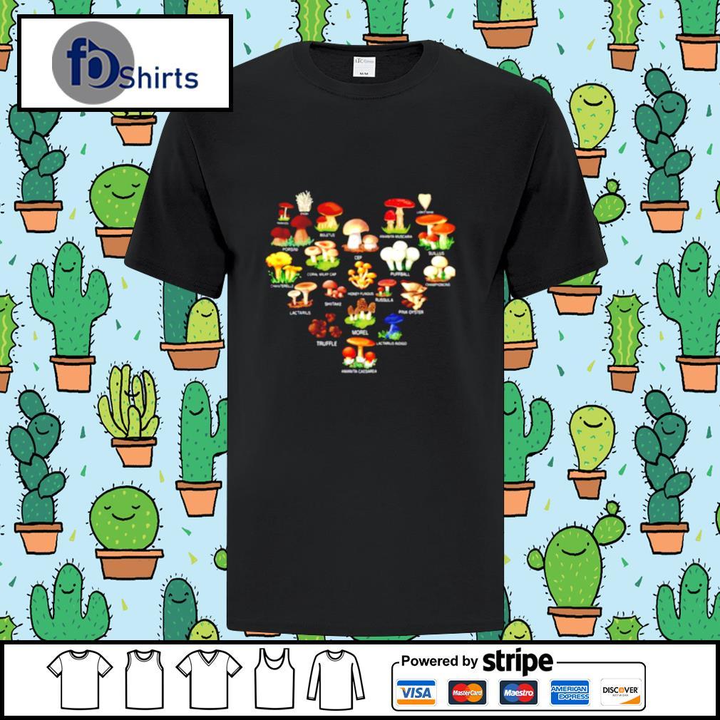 Mushroom Parasol Enoki Boletus shirt