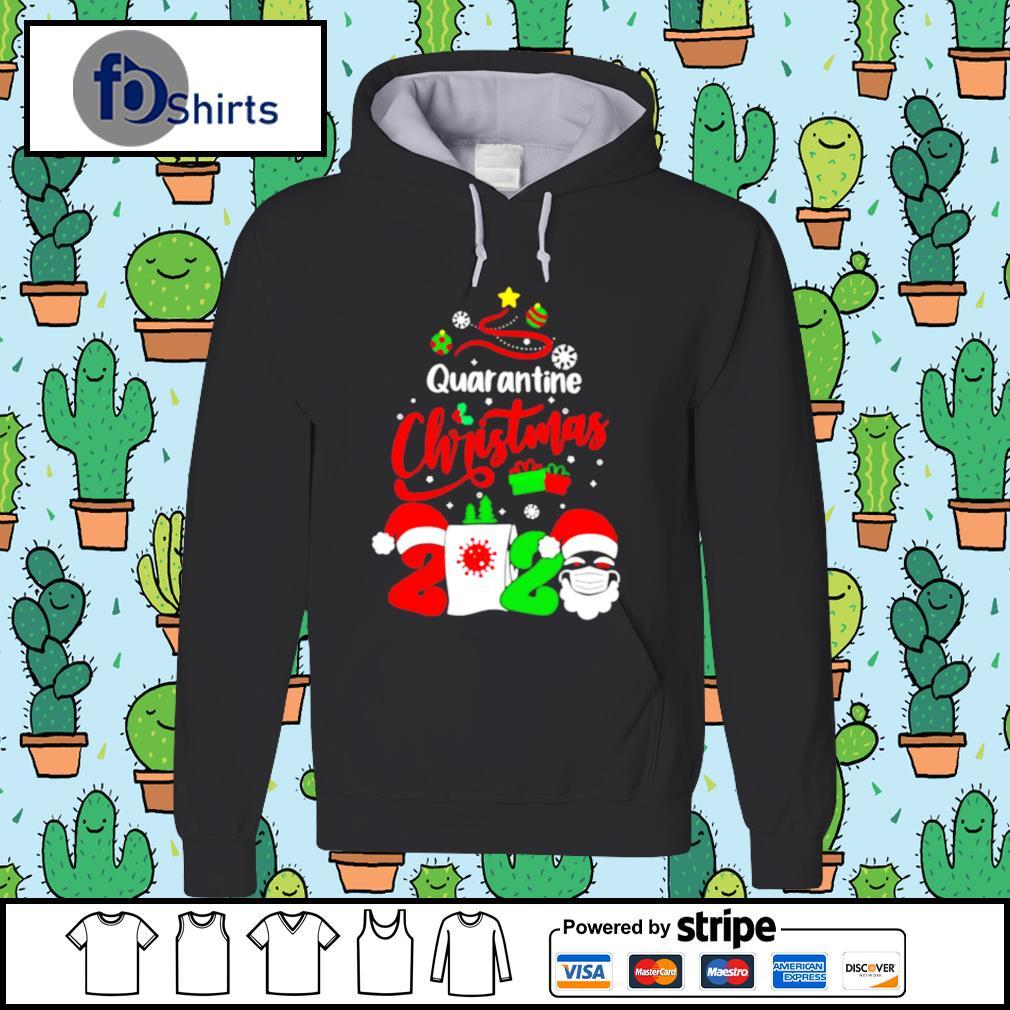 Quarantine Christmas 2020 Santa Claus Toilet Paper Tree s hoodie