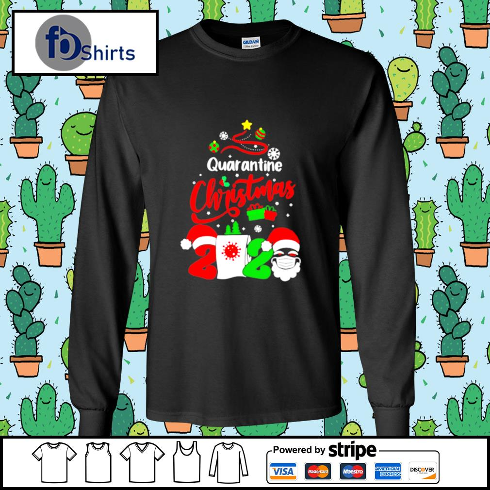 Quarantine Christmas 2020 Santa Claus Toilet Paper Tree s longsleeve-tee