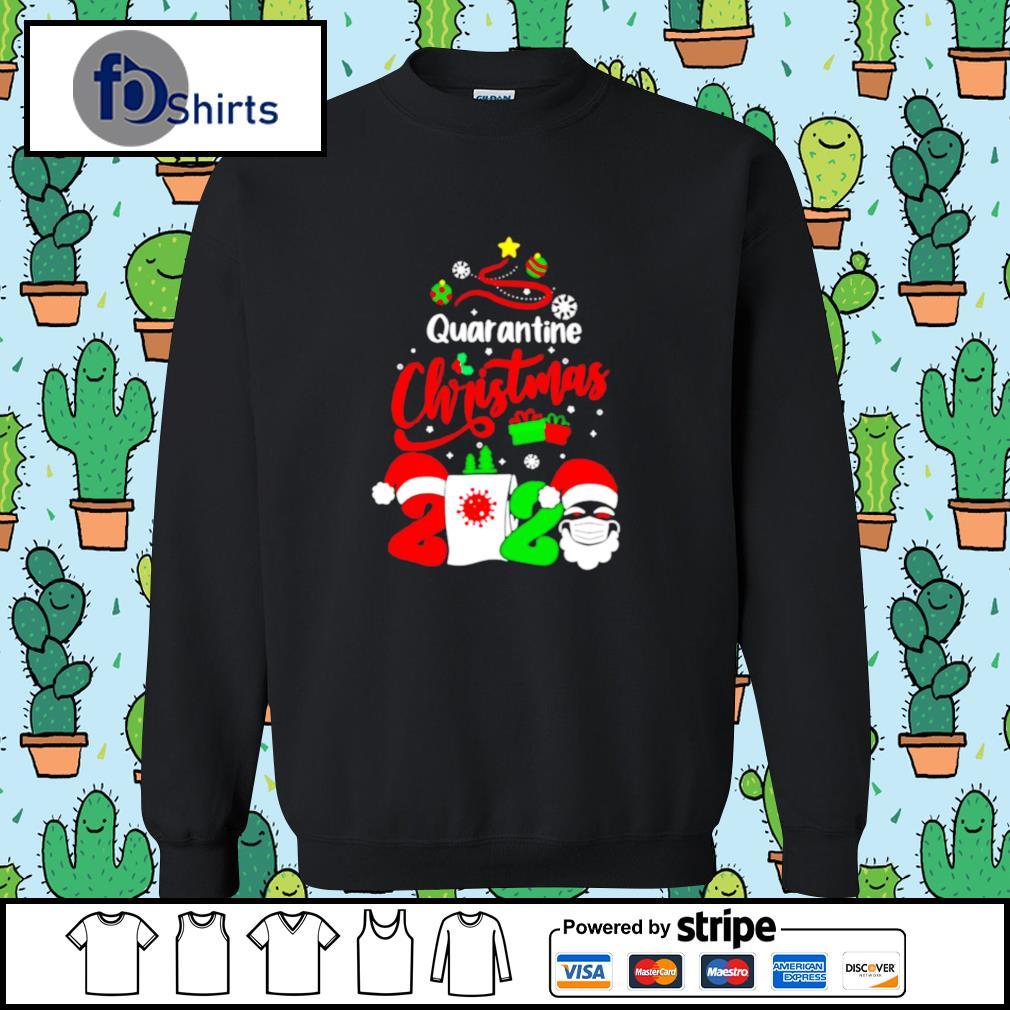 Quarantine Christmas 2020 Santa Claus Toilet Paper Tree s sweater
