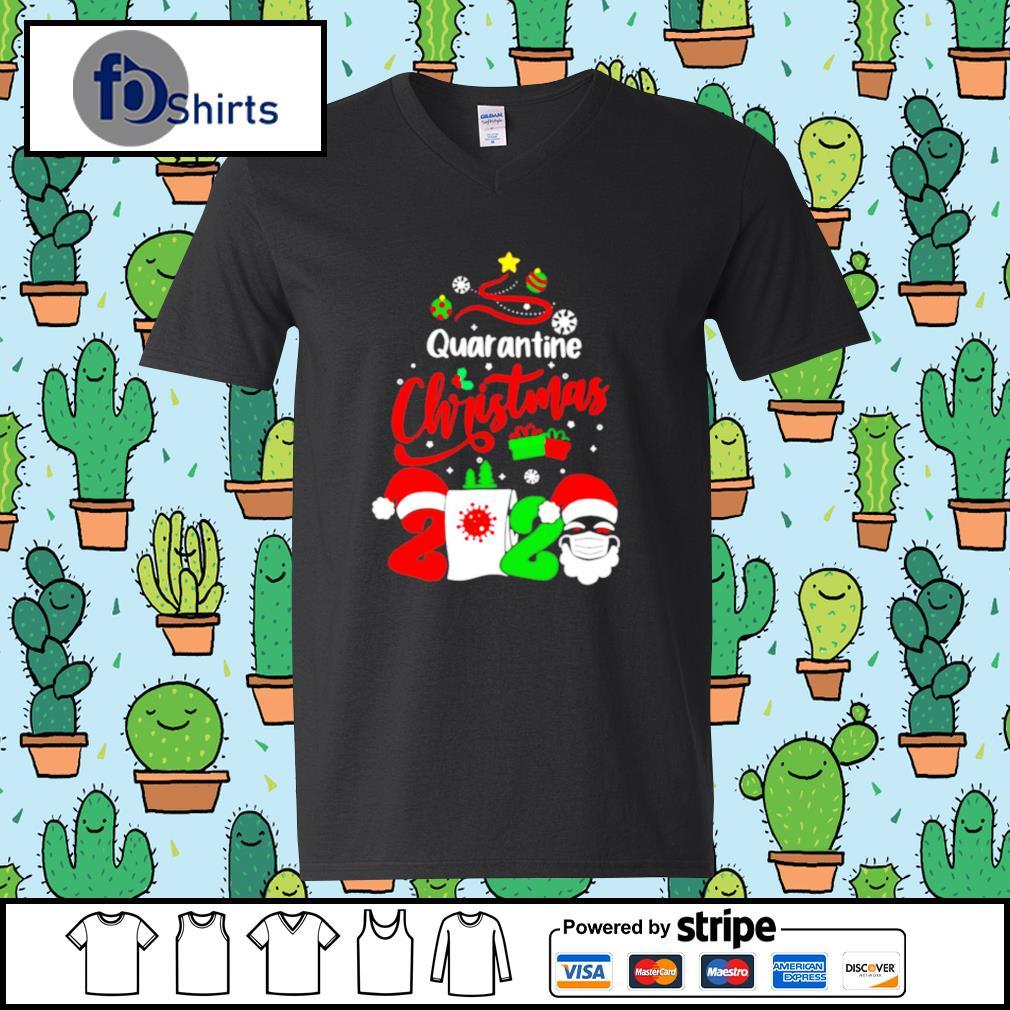 Quarantine Christmas 2020 Santa Claus Toilet Paper Tree s v-neck t-shirt