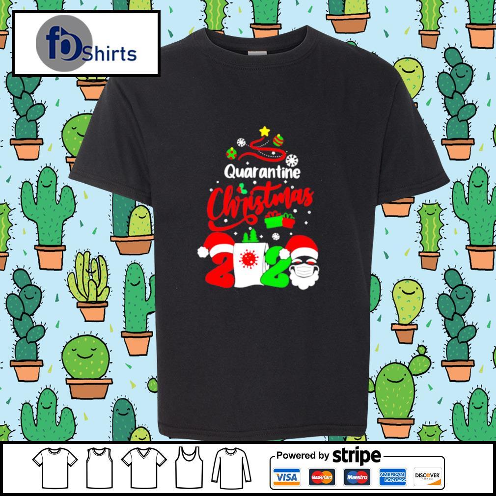 Quarantine Christmas 2020 Santa Claus Toilet Paper Tree s youth-tee