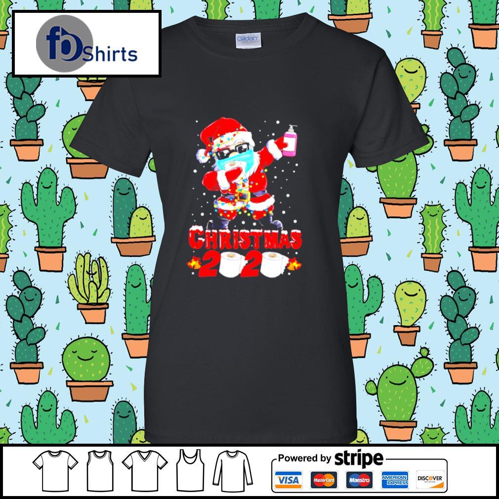 Santa Claus Dabbing Toilet Paper Merry Christmas 2020 s ladies tee