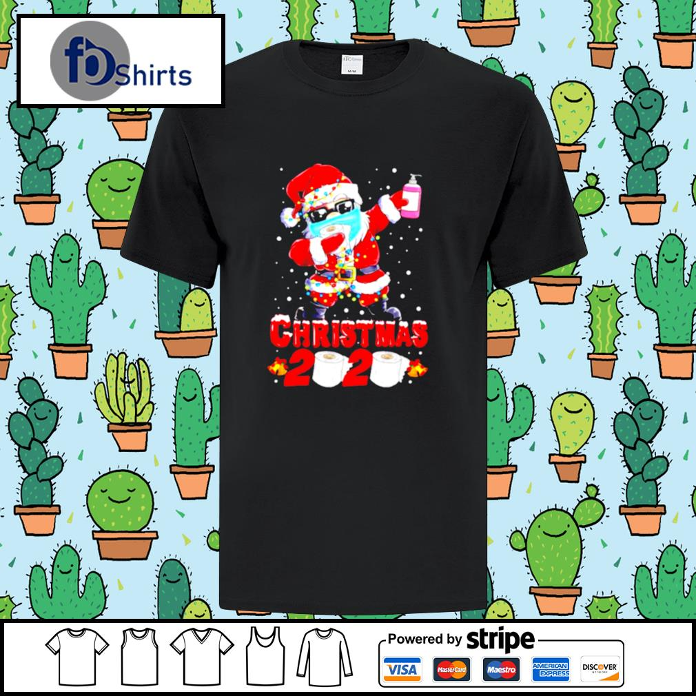Santa Claus Dabbing Toilet Paper Merry Christmas 2020 shirt