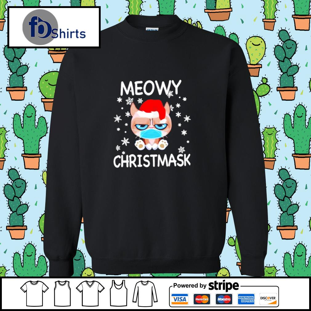 Santa Grumpy Cat Face Mask Meowy christmas s sweater